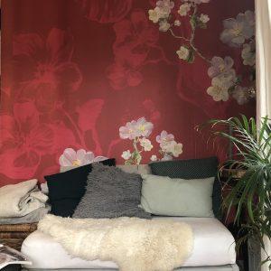 Behang woonkeuken