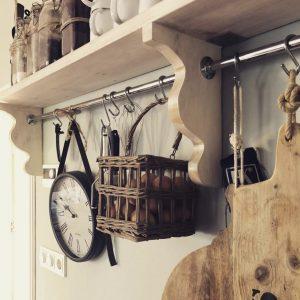 Wandplank in de keuken
