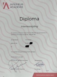 Diploma interieurstyliste