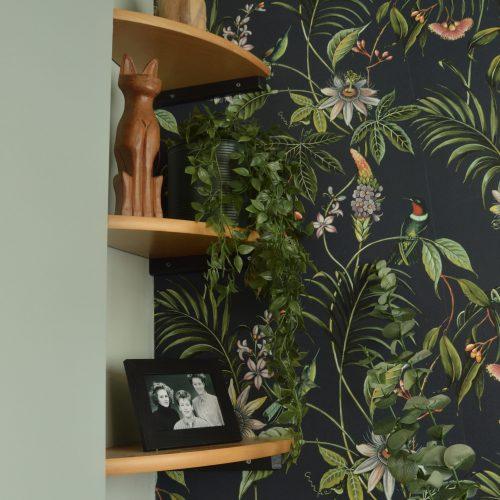 Wandplankjes op de slaapkamer