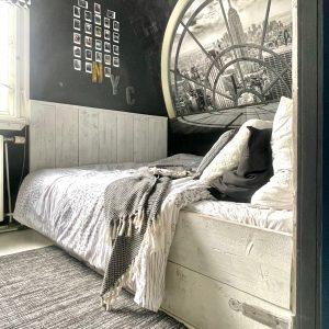 Tiener slaapkamer zwart wit